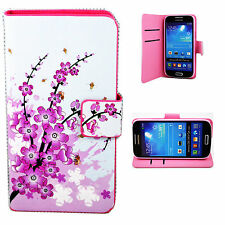 Leather Flip Wallet Phone Hard Cover Case Stand For Samsung Galaxy Mobile Phone