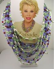 "Joan Rivers Torsade Necklace   27""  3"" ext."