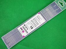 BINZEL E3 1.6mm Tungsten Electrode E3 PURPLE Tip 10Pcs Bobthewelder + FREE P&H