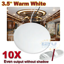 "10PCS LED 12V 3.5"" Ceiling Dome Light Interior RV Caravan Trailer Boat Marine WW"