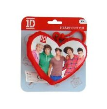 One Direction 'Group' Plush Heart Shaped Backpack / School Bag / Rucksack Clip