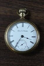 Vintage 1890 Elgin 11 Jewel Pocket Watch AS IS