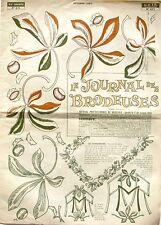 Le Journal des Brodeuses n°871 - 1967 - Ecussons pour Draps - Nappes -