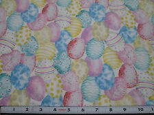 3 yard cut - Packed Pastel Easter Egg Cotton Quilt Fabric