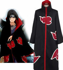 Cool Naruto Akatsuki Cosplay Uchiha Itachi Robe Cloak Coat Anime Costume L