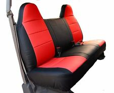 FORD F-150 BLACK/RED IGGEE S.LEATHER CUSTOM FIT BENCH FRONT SEAT COVER