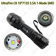 UltraFire C8 CREE XM-L2 U3 1M(on/off) 10*7135 Driver 3500mA LED Flashlight Torch