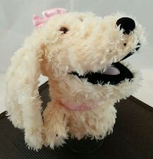 Manhattan Toy Dog Hand Puppet Plush Cream Girl Poodle Stuffed Puppy 2003