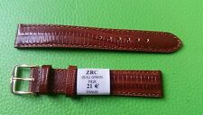 WATCH BAND BRACELET MONTRE PVC ****ZRC** marron   16mm****REF BN30