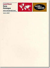 Land Rover Series 2 and Early 2A Bonnet Control Parts Catalogues (Official Parts