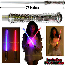 1 STAR WARS LED FX LIGHTSABER LIGHT SABER CHANGES COLOR MAKES SOUND WHEN STRUCK