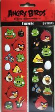 Angry Birds Sticker Strips 8 Strips Per Sealed Pack**New**Sale