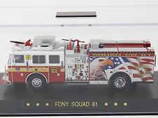 "Code 3 FDNY New York Seagrave ""Eagle"" Squad 61 Fire Truck 1:64 Diecast 12814"
