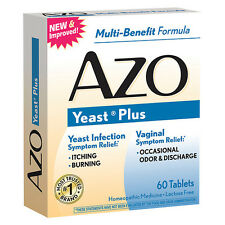 AZO Natural Yeast Prevention 60 Tablets Homeopathic Yeast Infection Treatment
