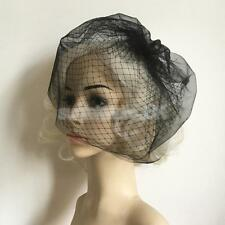 Hair Net Face Veil Headdress Wedding Bridal Party Bird Cage Veil Hair Clip