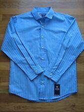 NWT! CHAPS RALPH LAUREN BOY'S  Long Sleeve Blue Shirt Striped L 14/16