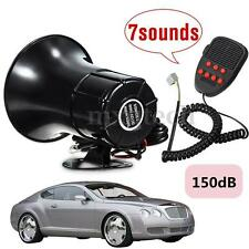 12V 100W 7 Sounds Tone Horn Auto Speaker Car Motor Van Truck Siren Loud Alarm