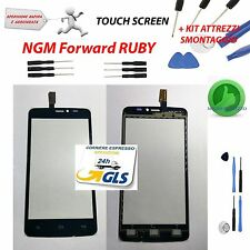 TOUCH SCREEN VETRO GLASS NERO DISPLAY SCHERMO per NGM FORWARD RUBY + KIT