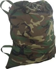 "HEAVY DUTY Laundry Bag 30"" x 40-42""  Woodland Camo Color  Made in USA"