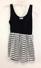 NEW NWT What Comes Up LF Stores Black & White Stripe Tulle Dress $132 retail