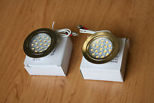 2 X 12V LED SPOTLIGHTS/DOWNLIGHTER, CAMPERVAN, CARAVAN, MOTORHOME LIGHTING