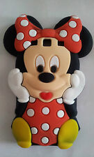 Silicone Cover per cellulari MINNIE2 RED para SAMSUNG GALAXY S3 I9300