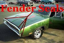 1970 Dodge Charger Rubber Nose to Fender Seals 2998698 2998699 NEW MoPar