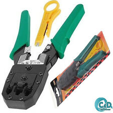 RJ45 RJ11 ADSL Network Crimping Tool Crimp Crimper Cable Cutter Plier + Stripper