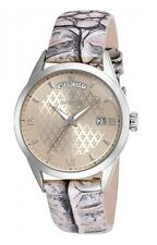 New Womens Invicta 18468 Vintage Beige Dial Day Date Leather Watch