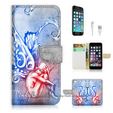 "iPhone 6 (4.7"") Print Flip Wallet Case Cover! Butterfly Angel P1469"