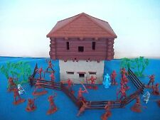 Classic Toy Soldiers frontier 2 story blockhouse + Booneboro, Mohawks + more
