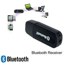Black USB Wireless Bluetooth AUX A2DP Music Audio Stereo Receiver Adapter Dongle