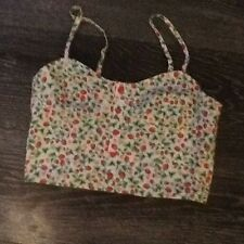 strawberry design crop top size 10 Bralet Size 10