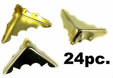 24pc. Decorative Brass-plated Box Corners & screws, great for projects! 32-07-02