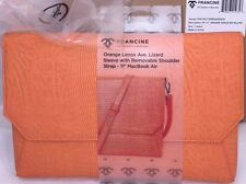 """New Francine Collection Lenox Carrying Case WStrap 11"""" MacBook Air Lizard Orange"""