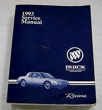 1993 BUICK RIVIERA SERVICE MANUAL by GENERAL MOTORS CORPORATION   NICE!!