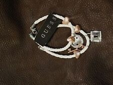 AUTHENTIC GUESS 2 WHITE ROPE SIGNATURE HEART KEY BRACELETS NEW $23
