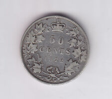 1872 Canada Silver Fifty Cents