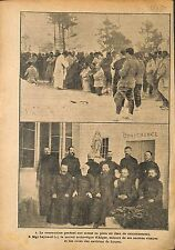 Aumônier Messe Poilus Verdun/Mgr Leynaud Archevêque Alger WWI 1917 ILLUSTRATION