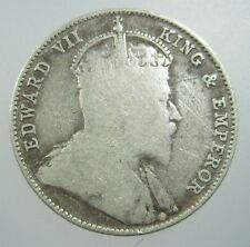 STRAITS SETTLEMENTS 20 CENT 1910 SILVER #V BRITISH MALAYSIA SINGAPORE WORLD COIN