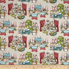 DOGS Fabric Fat Quarter Cotton Craft Quilting Pampered Pooch SPA DAY