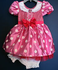 New Disney Store Clubhouse MINNIE MOUSE Pink Costume Dress Small S (5/6)