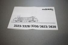 Märklin Betriebsanleitung Elok Re 4/4 3323/3328/3330/3623/3630 Spur H0
