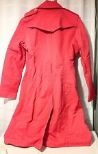 Express Design Studio Pink Trench Coat Raincoat Size S Small