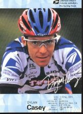 DYLAN CASEY cyclisme card carte Equipe Cycling ciclismo US Postal 2000