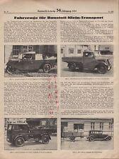 LEIPZIG, Werbung 1935, Fahrzeuge Baustoff-Kleintransport Schnell-Lastwagen
