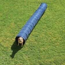 Dog agility tunnel activité 60 cm x 5m bleu fit & healthy fort & robuste
