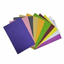 A4 Coloured Felt Pack Sheet :Scrapbooking,Craft Projects,Decorations ; 10 pc