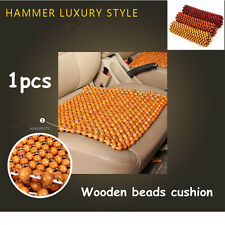 Zone Tech 1x Natural Wood Wooden Beads Seat Cover Massage Cool Car Truck Cushion