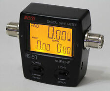 NISSEl RS-50 Digital LCD DISPLAY SWR & Power Meter 125-525 Mhz For 2 Way Radios